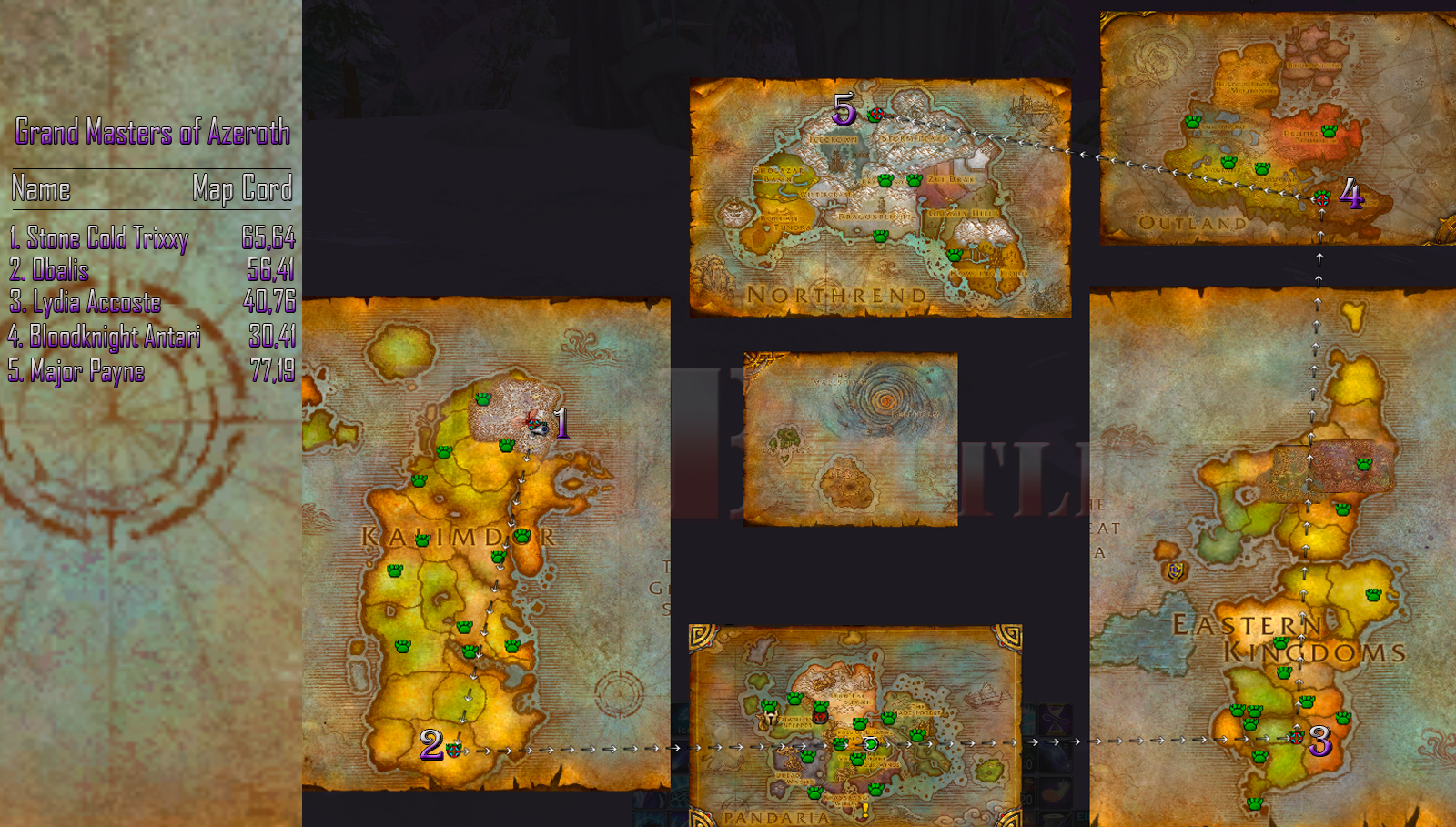 wow Pet Battle.com Guide to all Azeroth Grand Masters
