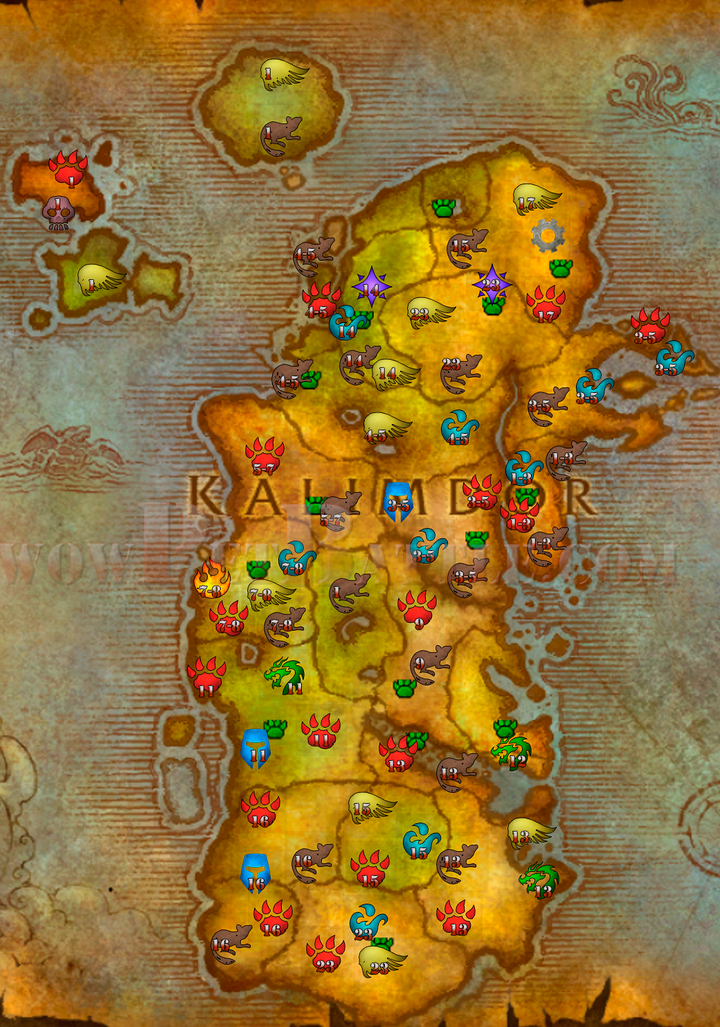 Battle Pet Leveling Guide kalimdor on molten core map, eastern kingdoms map, guild wars 2 gendarran fields map, dragonblight map, stormwind map, undercity map, ashenvale map, azeroth map, netherstorm map, darkshore map, desolace map, dustwallow marsh map, thousand needles map, draenor map, orgrimmar map, lordaeron map, wrath of the lich king map, emerald dream map, wow fossil dig sites map, bloodmyst isle map,
